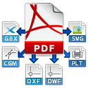 Convert PDF to Gerber, SVG, HPGL/2 and DXF
